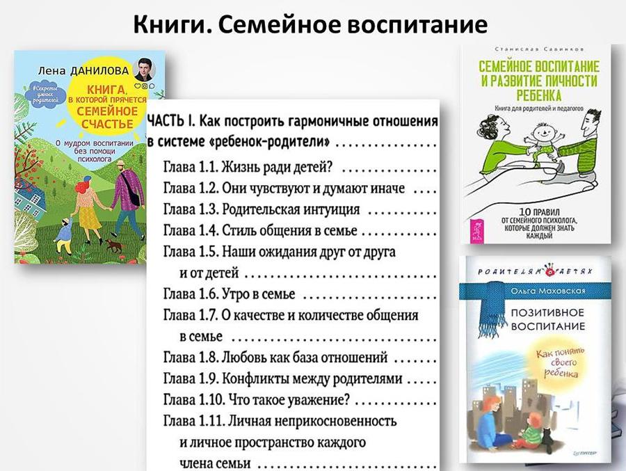 Книги. Семейное воспитание
